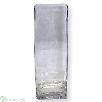 Glasvase 4-eckig, LB10H30 cm
