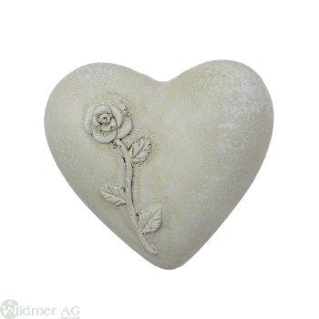 Herz mit Rosendecor, D5 cm Gr: 5x4.5x2.5 cm