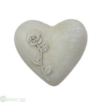 Herz mit Rosendecor, D5 cm