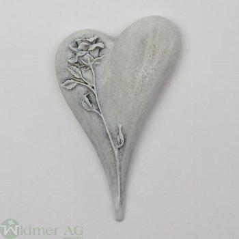 Herz mit Rosendecor, D10,5 cm Gr: 10.5x7x2 cm