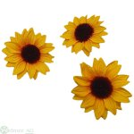Sonnenblumenköpfe, 36Stk/Box Gr: 5 cm
