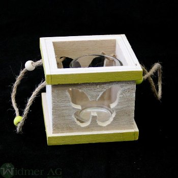 Holz-Wl mit Glas, LB9H7.5 cm