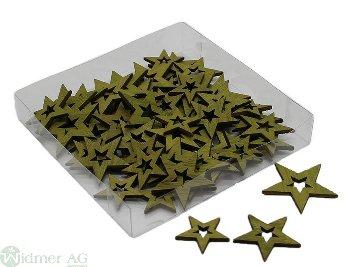 Stern S/3, ass, 72Stk/Box Gr: D2.8/3.5/4 cm