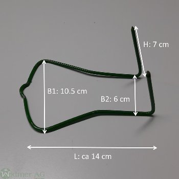 Kranzhaken, Bd à 10 Stk Gr: L14.5xB6xH7 cm