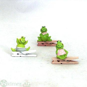 Frosch auf Clip, 12Stk/Box
