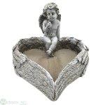Herzschale mit Engel, D16.5 cm H: 6.5 cm