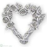 Herz mit Rosen, D16.5 cm
