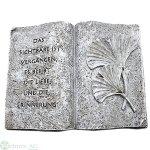 Buch mit Trauerspruch