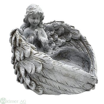 Flügelschale mit Engel