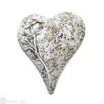 Herz mit Rose, 9.5x8.5x4 cm