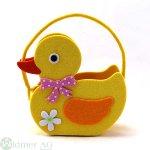 Filztasche Duck 19x8H18 cm