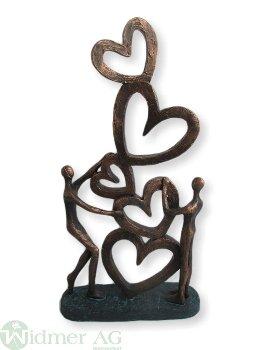 Herz-Skulptur, H42.2 cm Gr: 22.4x7x42.2 cm