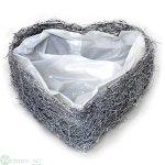 Herz zum Füllen, D15H6 cm
