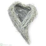 Herz zum Füllen, D30x19 cm