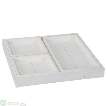 Tablett S/4 Gr: 2x LB18H3.5 cm 1x LB36x18H3.5 cm 1x LB39H4.5 cm
