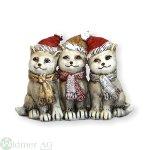 Katzen mit Mütze x3, H13 cm