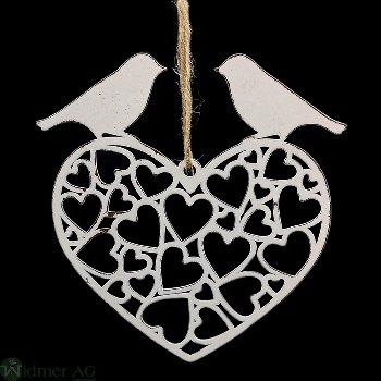 Herz mit Vogel zH, D12.5 cm