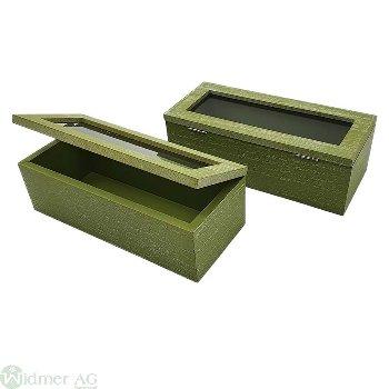Holz-Dekobox, 21x9x7 cm